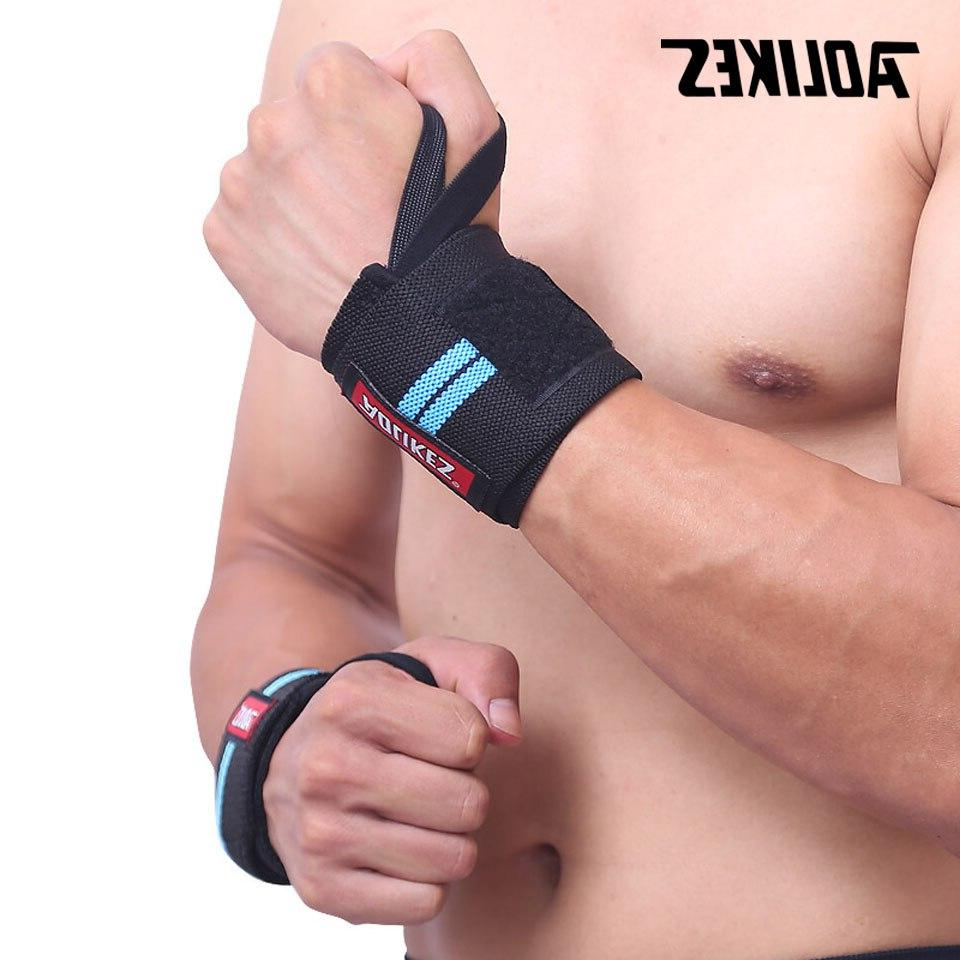 AOLIKES Wrist Gym <font><b>Weightlifting</b></font> Training <font><b>Lifting</b></font> <font><b>Gloves</b></font> Barbell Wraps Hand Protection