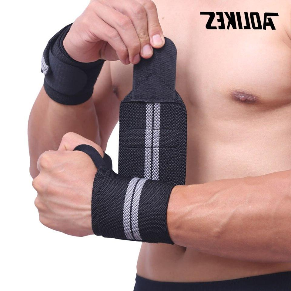 AOLIKES Support Gym <font><b>Lifting</b></font> Barbell Wraps Protection