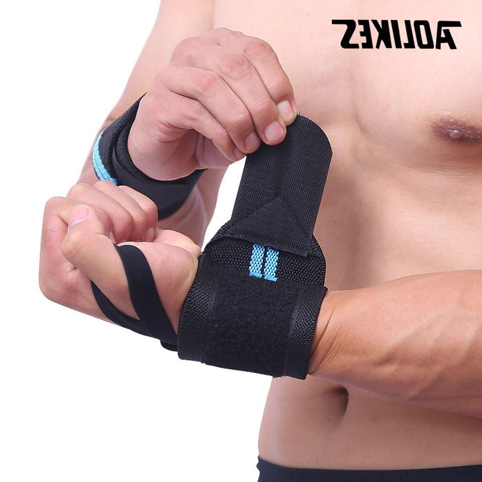 AOLIKES 1PCS Gym Weight <font><b>Lifting</b></font> <font><b>Gloves</b></font> Barbell Wraps Hand Protection