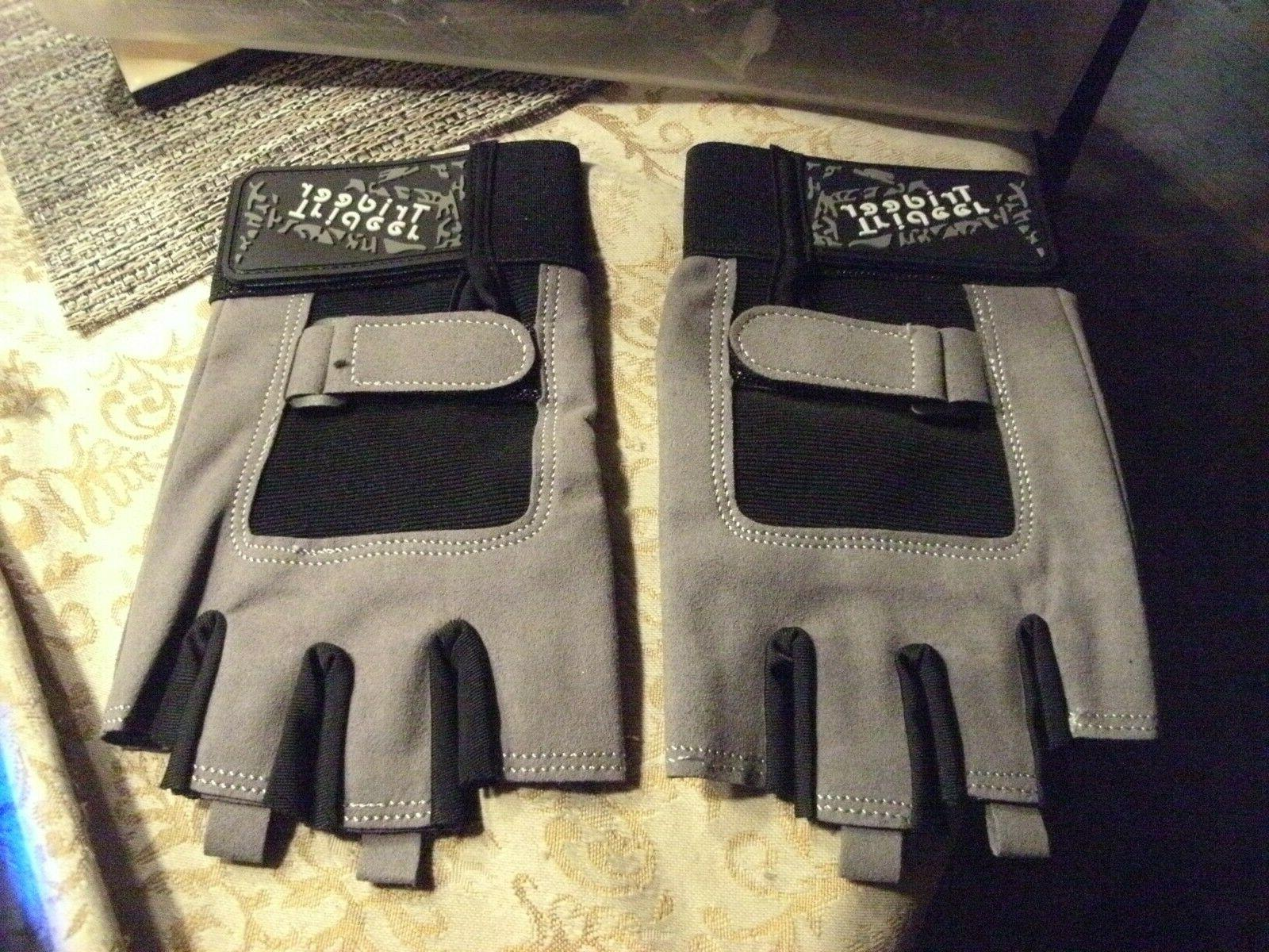 """2#   Trideer 8.3-9"""" Workout Gloves Full Palm Protection & Ex"""