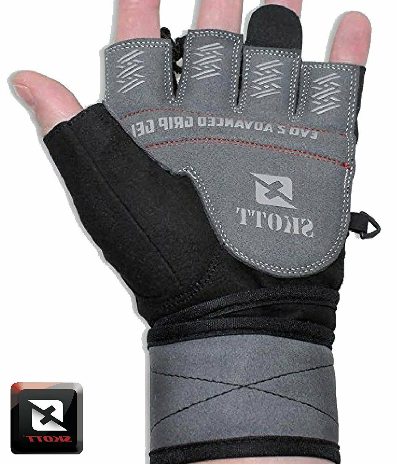 2016 2 Gloves with Wrist Wrap Support