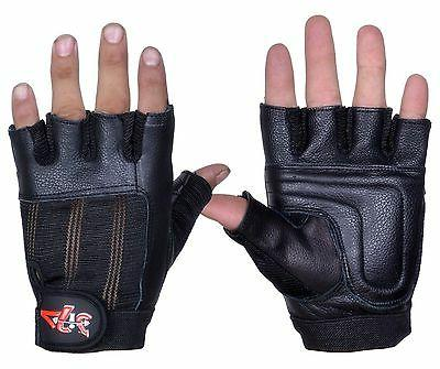4fit leather weight lifting gloves gym fitness