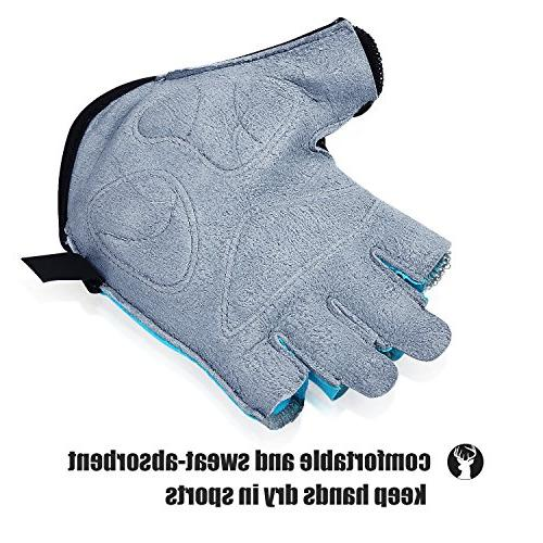 OZERO Deerskin Palm Shockproof Pads, Finger Glove for Cycling/Mountain Fit Men
