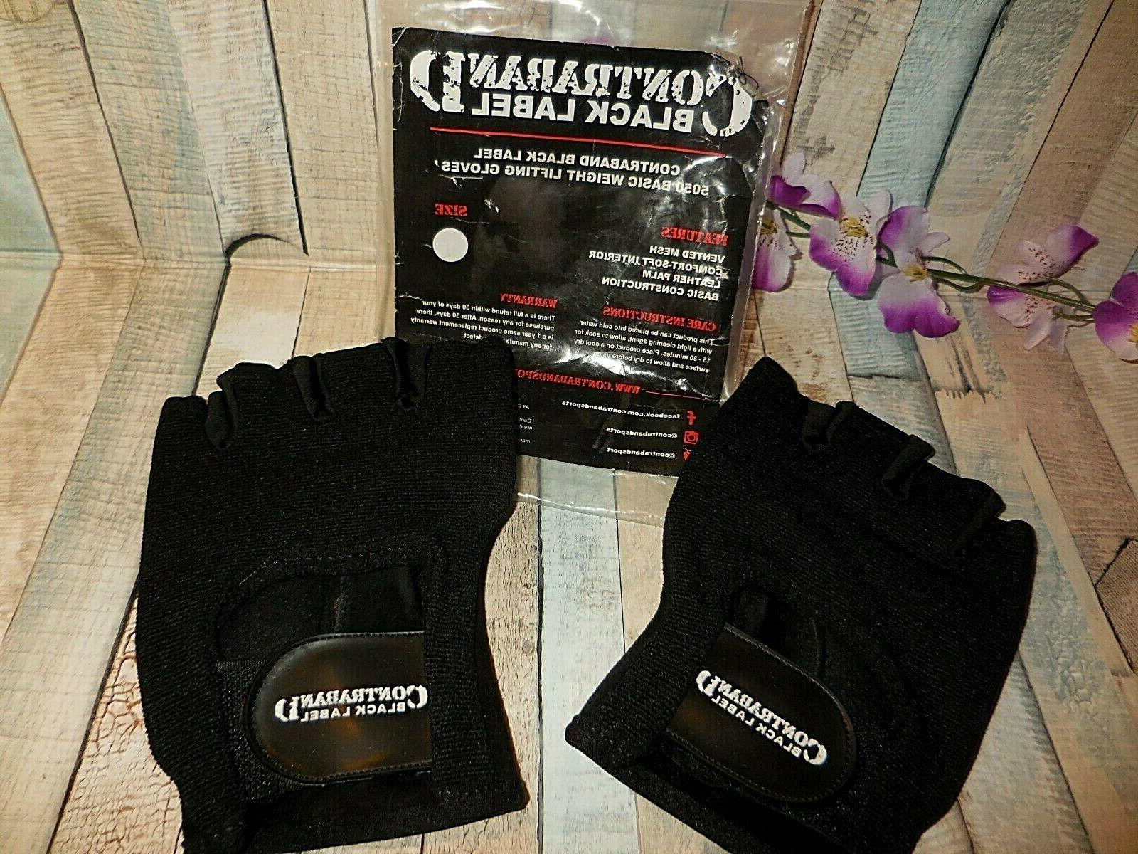 black label 5050 weight lifting gloves large