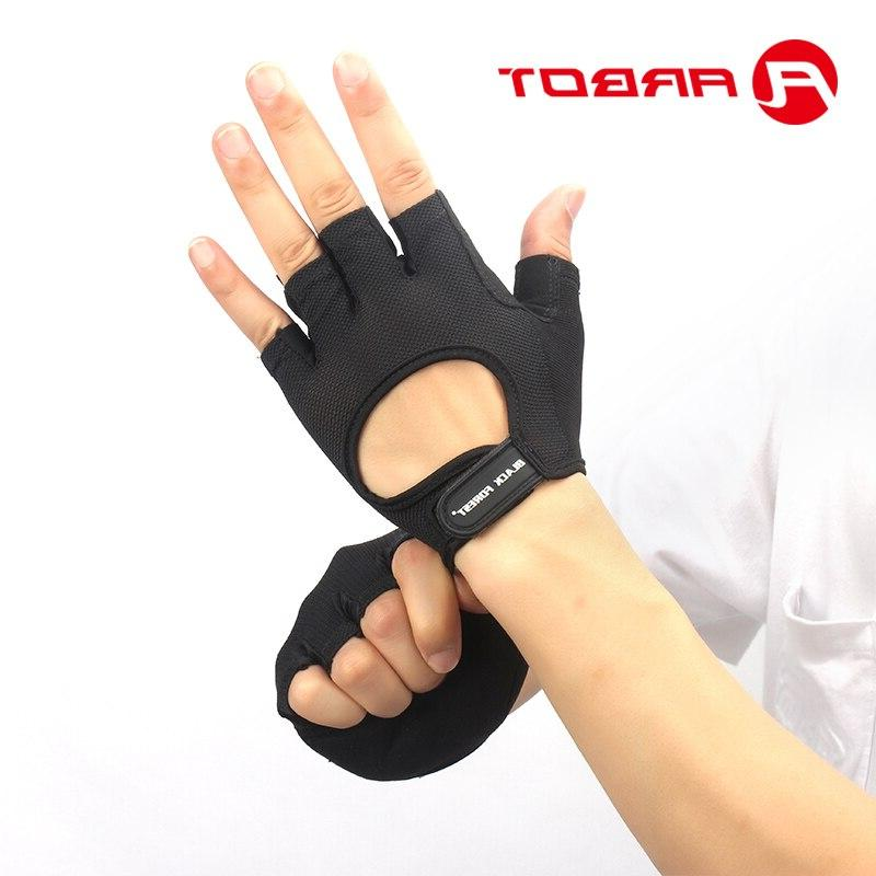 Bodybuilding <font><b>Gloves</b></font> Gym Breathable Slip Fingerless <font><b>Sports</b></font> <font><b>Glove</b></font> Women Men