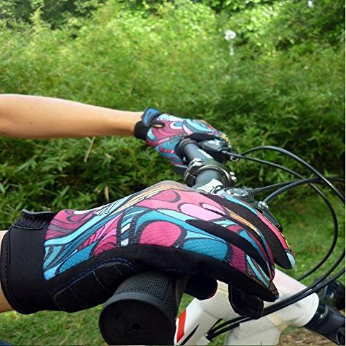 YYGIFT Unisex Breathable Gloves Anti-Slip Gel Gloves for Bicycle Riding Training - Color L
