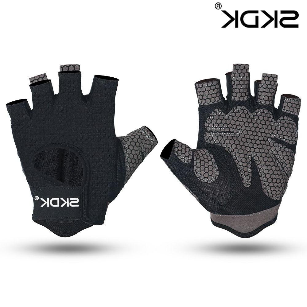Breathable Fitness Palm Hollow Back Gym <font><b>Gloves</b></font> <font><b>Weightlifting</b></font> Crossfit Bodybuilding