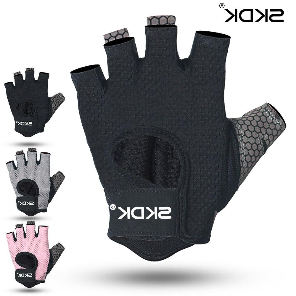 Breathable Fitness <font><b>Gloves</b></font> Silicone Palm Hollow Gym <font><b>Gloves</b></font> Workout Crossfit