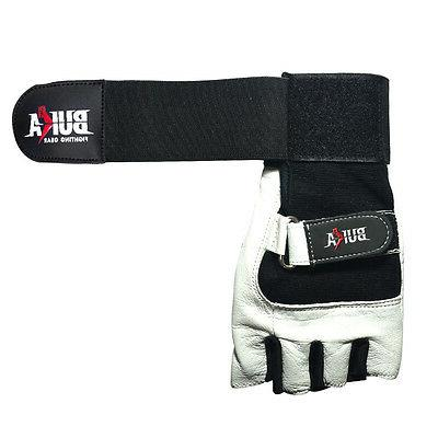 BUKA WEIGHT GYM GLOVES COWHIDE LEATHER NEW