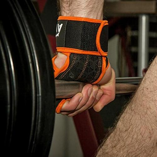 Wrist for Fitness, WOD, Weightlifting, Gym & Padding to - Suits Men &