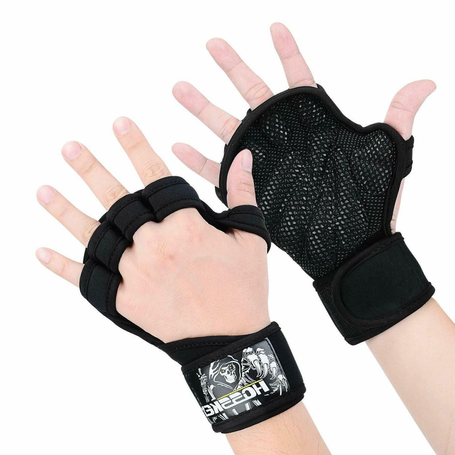 death weight lifting gloves with built in