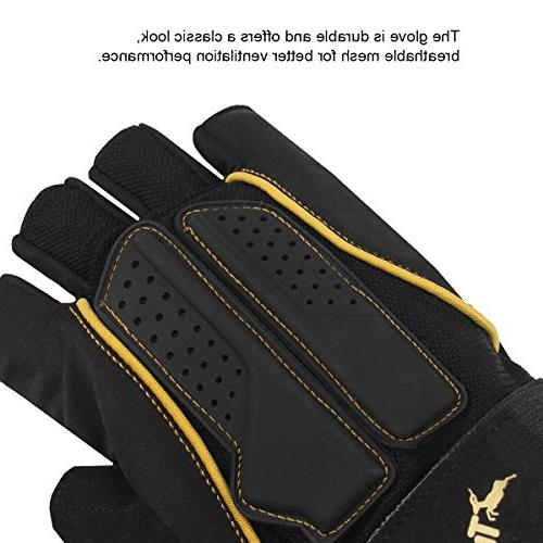 Trideer Double Protection Lifting Gloves Breathable & Gloves Men Women )