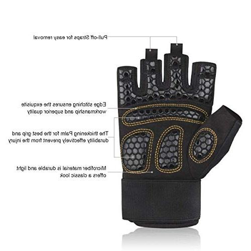 Trideer Double Protection Weight Lifting Gloves, Gym Gloves Grip, Breathable & Ultralight Gloves for Men Women