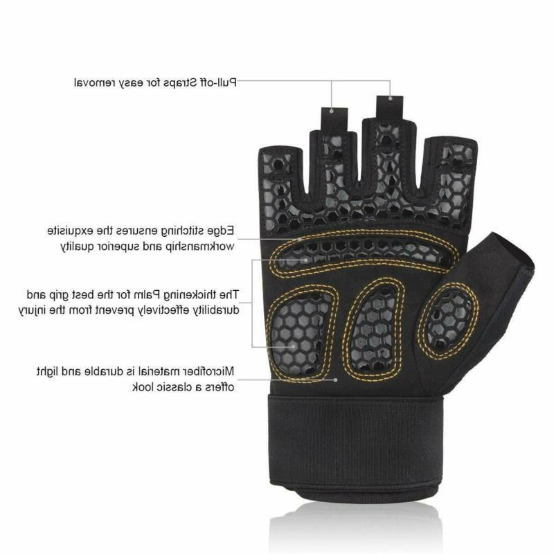 Trideer Double Protection Weight Lifting Gloves, Gym Gloves,