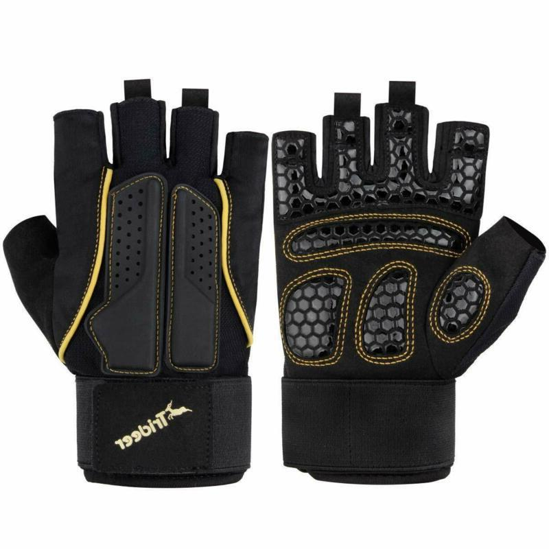 double protection weight lifting gloves padded gym
