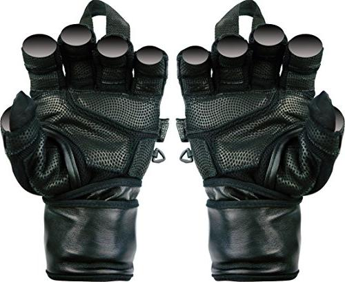 Epic Leather Gym Gloves with in Wide Wrist Best Grip & Weightlifting & Training Workout Exercises