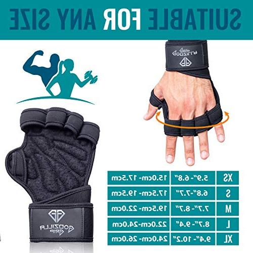Godzilla Grip Gloves for Black Wrist & Full Palm Protection &Women for Lifting, Training