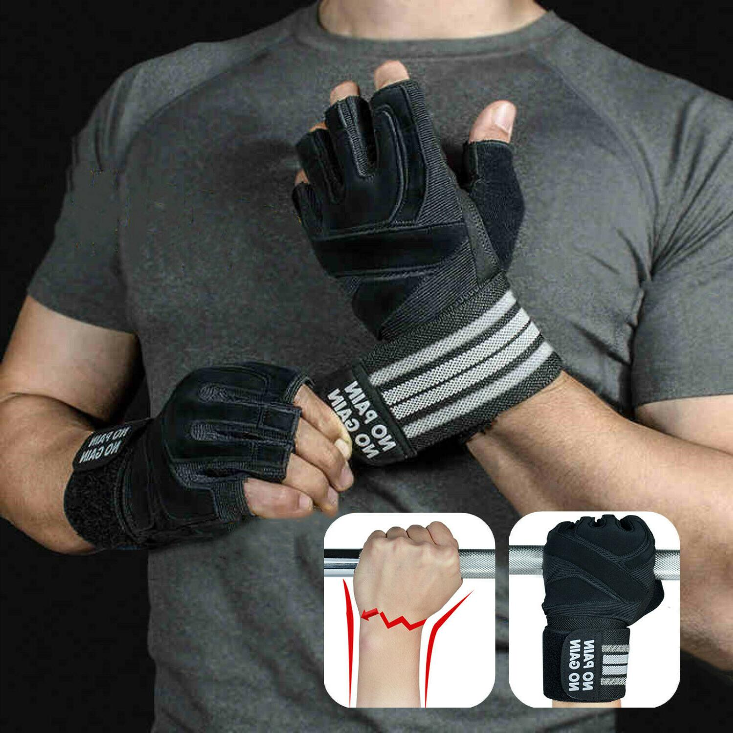 Fitness Weight Lifting Gloves Gym Sports Workout Training Wr