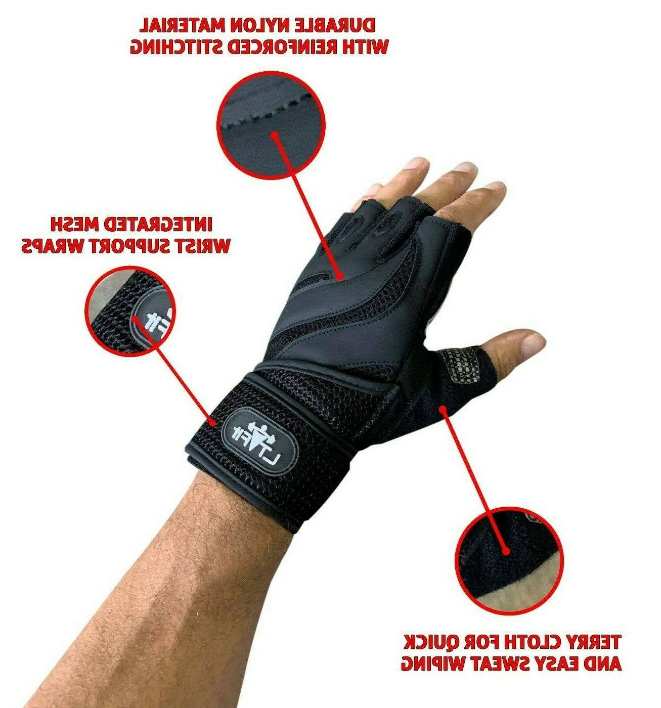 Fitness Gloves Weight Lifting Gym Wrap Women