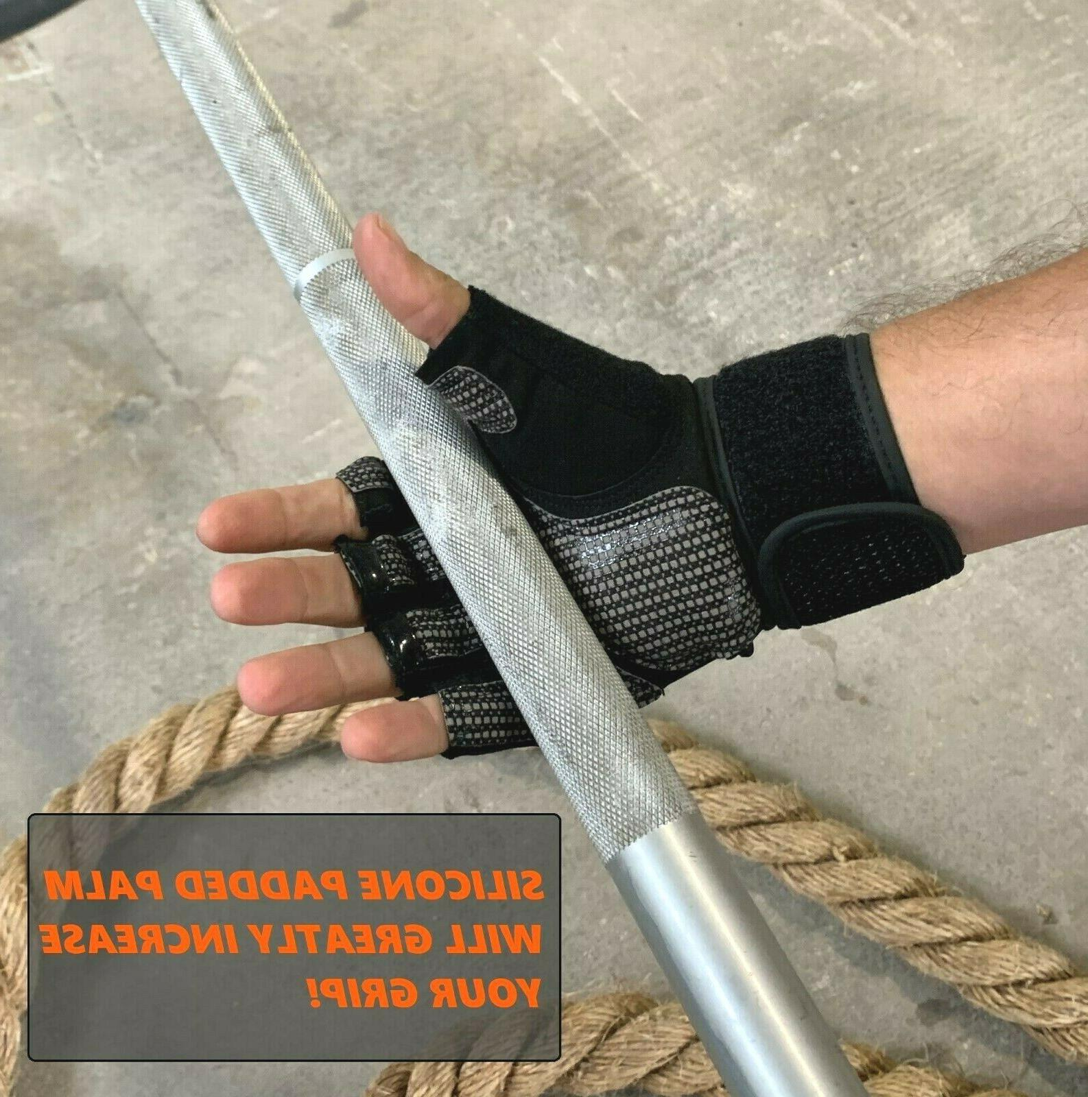 Fitness Gloves Weight Lifting Gym Workout Wrap & Women
