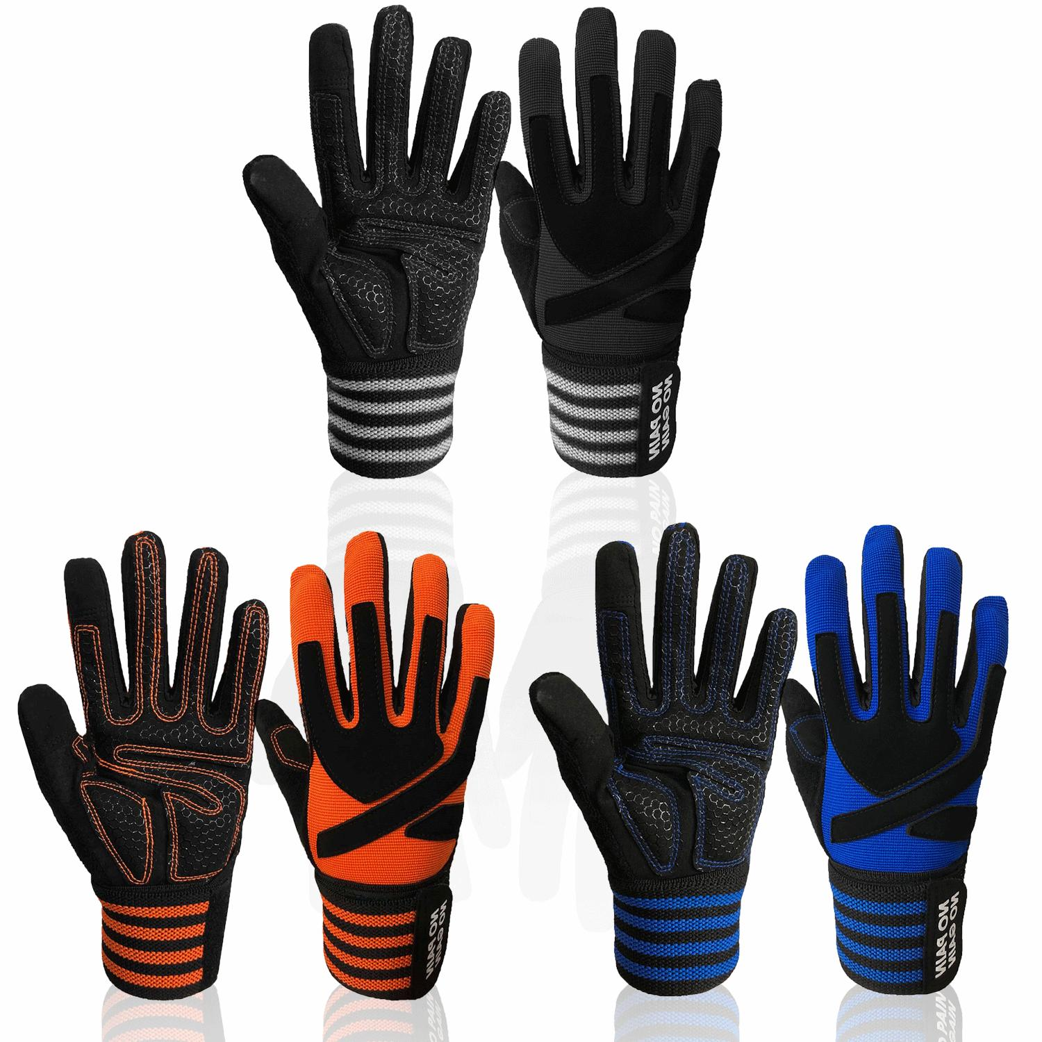 Fitness Gloves Full Finger Fit Gym Lifting Weight Exercise W