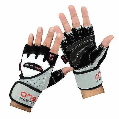 fitness weightlifting gloves gym straps gel wrist