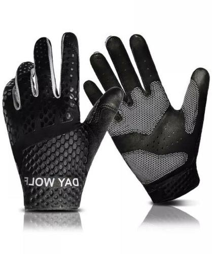 Day Wolf Full Finger Workout Gloves Gym Exercise Fitness Hea