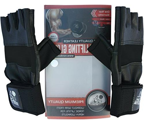Nordic Lifting Gloves Support Weightlifting,Fitness,Powerlifting Sports-The & Women L,1 Warranty