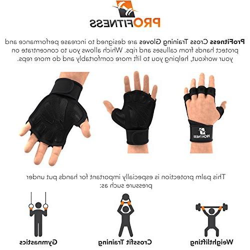 Mens Glove with Lifting Weightlifting Weight fit pullups Comfortable
