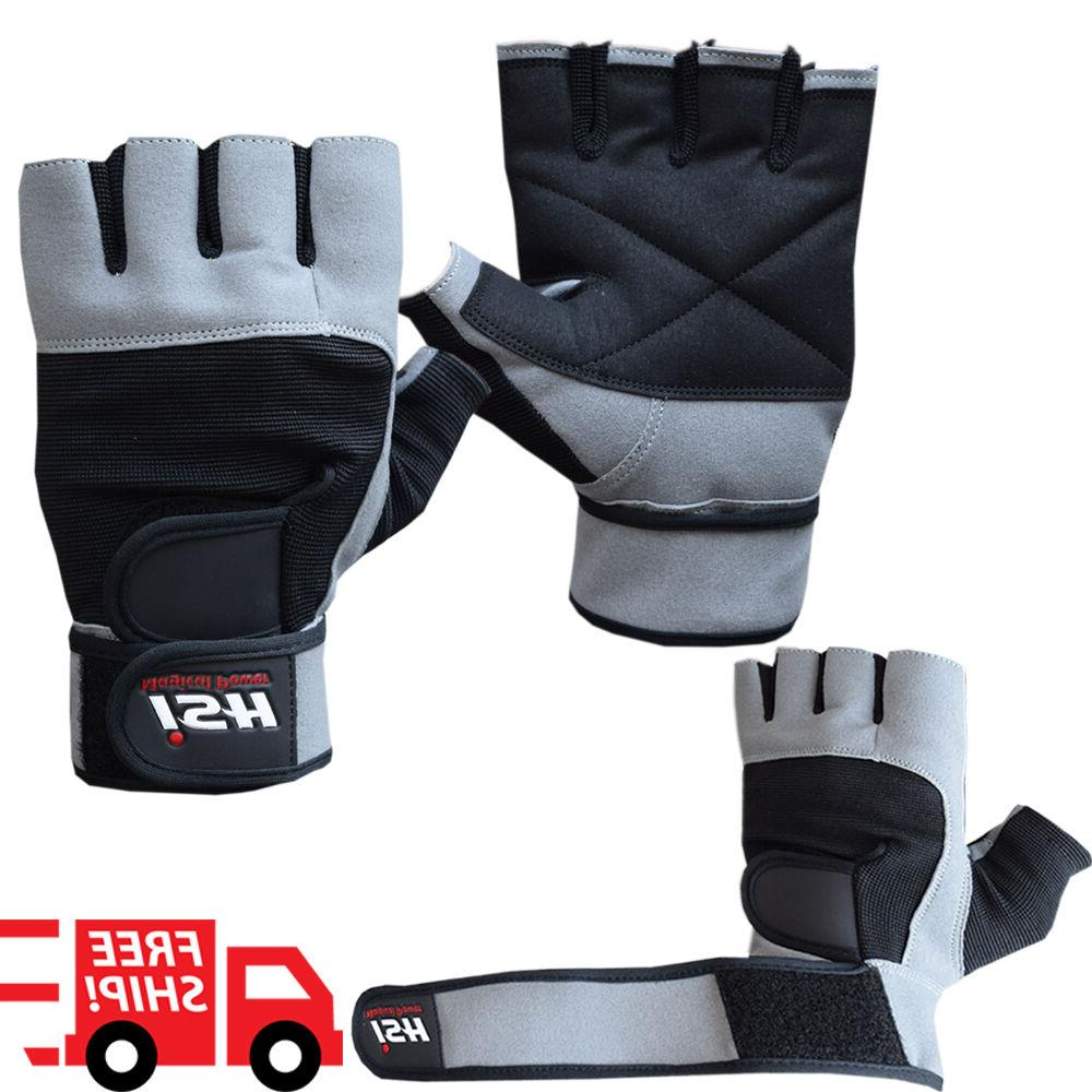 grip weight lifting gloves gym power training