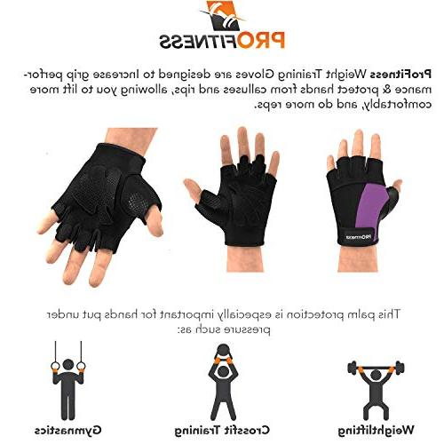 ProFitness guantes Mujer bar Grips Women Half Men Womens Sleeves Bikes Men