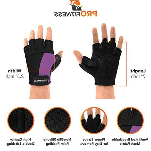 ProFitness para Mujer Women Bike Men Half Finger Men Done Womens Lifting Gloves Sleeves Bikes for Men