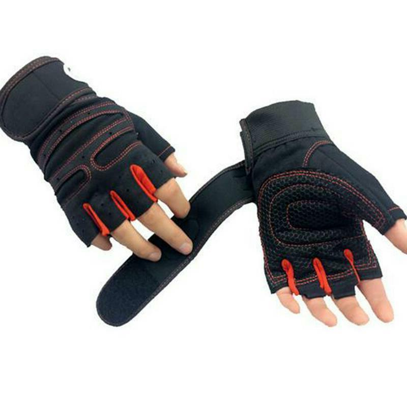 Gym Fitness Gloves Sports Weight Lifting Workout Wrap