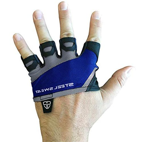 Steel Gym - WOD - Lifting Gloves to Protect for & - Skins Blue