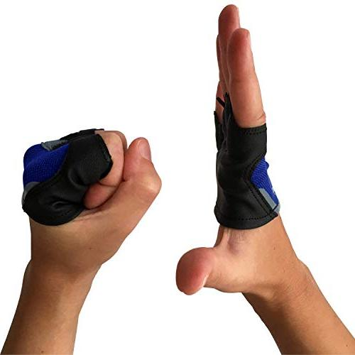 Steel Gym - Workout - Gloves to Palms for - Skins Blue