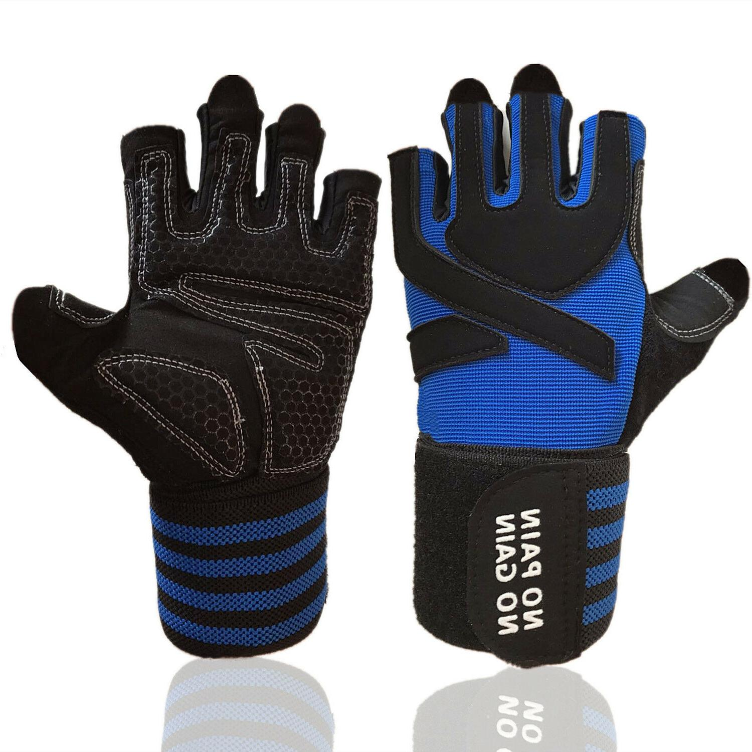 gym gloves wrist wrap weight lifting sports