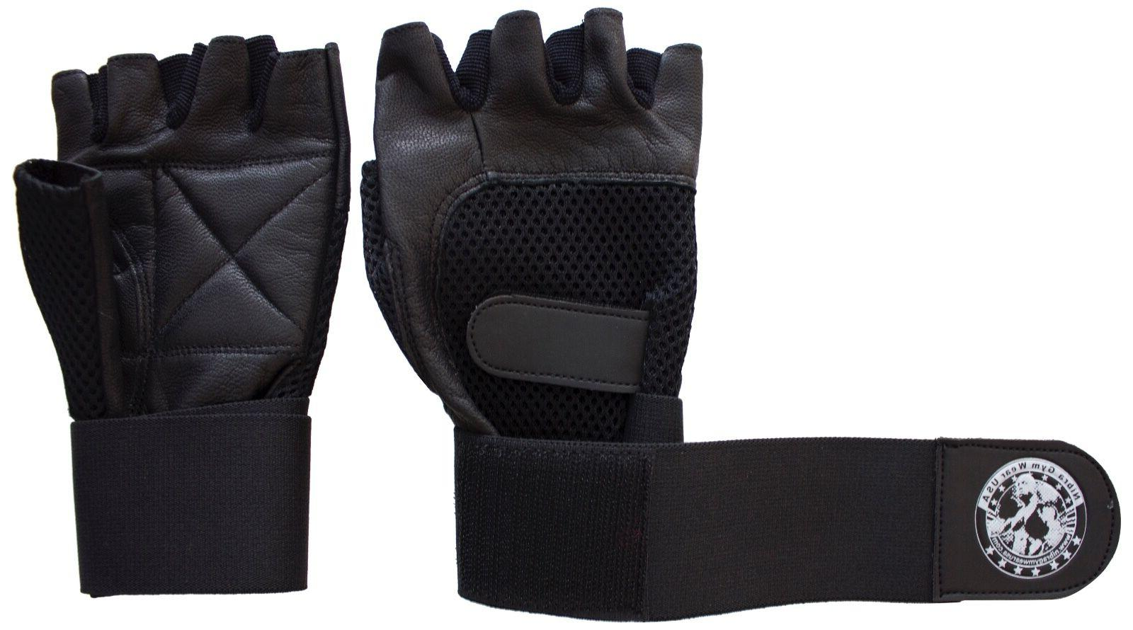 Gym Exercise Fitness Gloves Black with