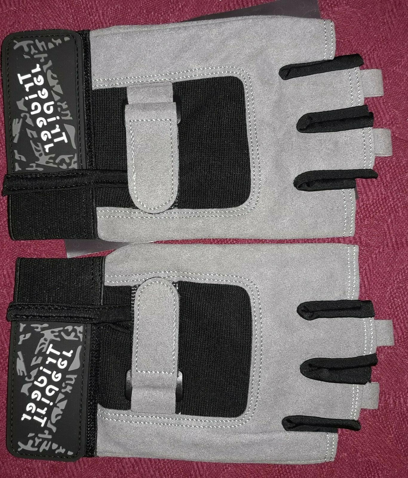 half finger athletic workout training gloves gray