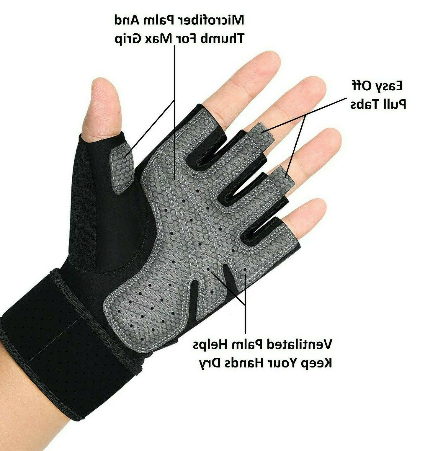 Half Workout Gym Gloves Sport Weight Exercise Fitness