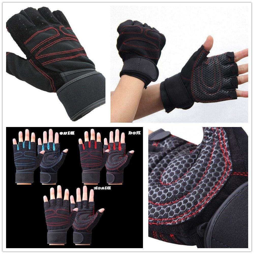 JIAZHOUHU Fitness <font><b>Gloves</b></font> Fingerless Breathable <font><b>Weightlifting</b></font> Finger Weight <font><b>Lifting</b></font> Gym <font><b>Gloves</b></font>
