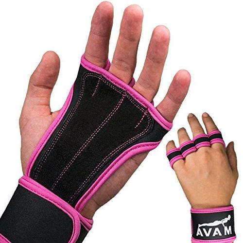 Mava Sport Leather Gloves with Gym Support for