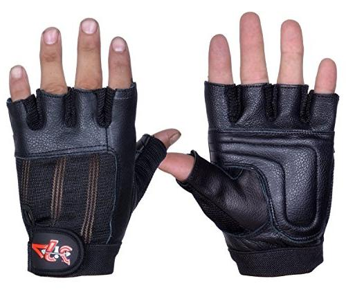 leather lifting gloves gym fitness
