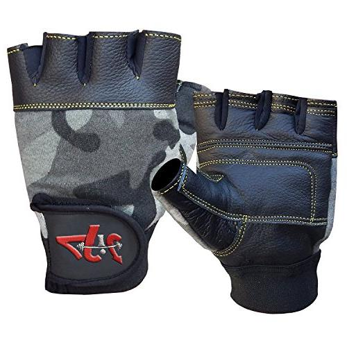 leather lifting gloves wrist wrap