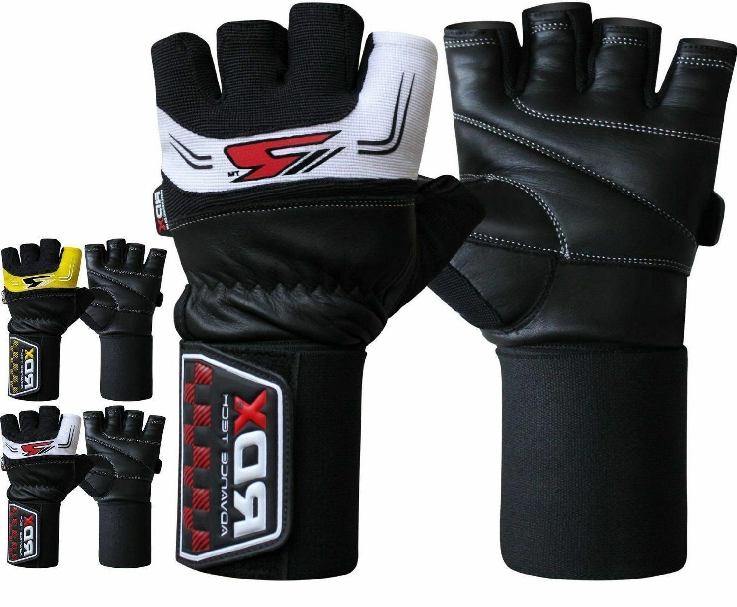 leather weight lifting gloves gym exercise fitness