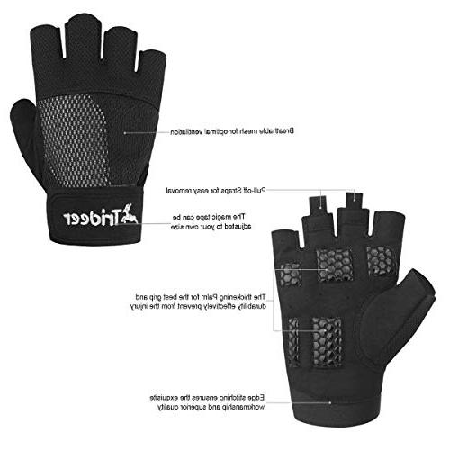 Trideer Weight Lifting Gloves, Breathable & Non-Slip, Gloves, Gym Gloves for Climbing, Boating, Cross