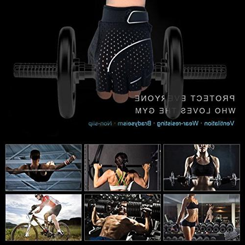Tourdarson Weight Lifting Gloves Silica Workout for Cross Training, Gym, Bodybuilding & Women