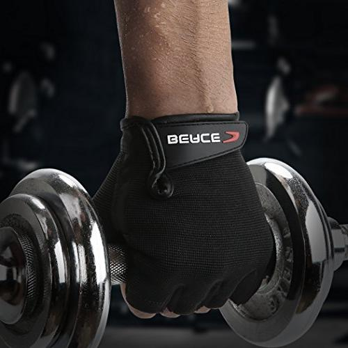 BEACE Gloves with Anti-Slip Palm Training Fitness and for Men &