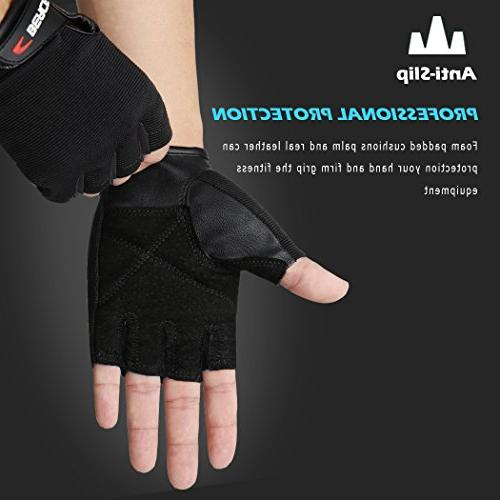 BEACE Weight Lifting Gym Gloves with Anti-Slip Palm Workout Exercise Training Bodybuilding for Women