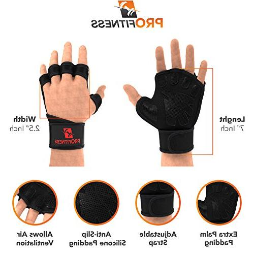 ProFitness Weight Lifting Ventilated Gloves Cross