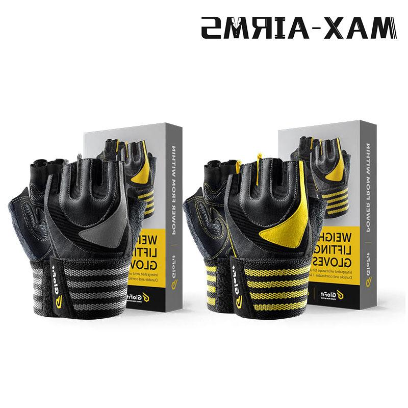 Maxairms Pair Gym Finger Breathable Dumbbell Weight <font><b>Glove</b></font>
